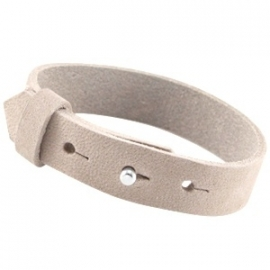 Armband 15 mm nubuck leer Soft satin brown