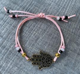 M&M satijnkoord fatima  black/gold/pink (meer kleurtjes mogelijk)