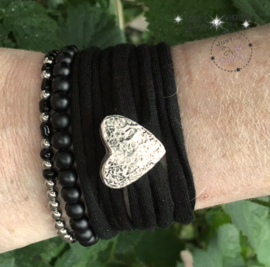 Stretchy Wrap met kralenbandjes Black