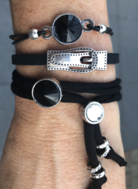 Armbandenset Black stones