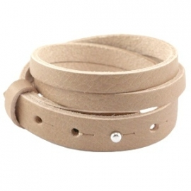 Armband 15 mm dubbel split aztec bruin