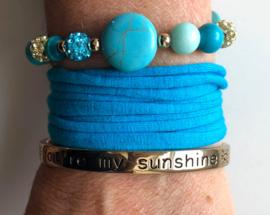 Armbandenset  LS turquoise gold