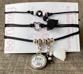 M&M black white setje 2