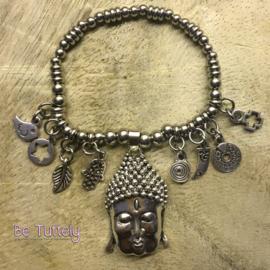 Armbandje Just Silver Buddha
