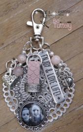 Sleutel/tashanger Mandala Foto en meer! pink