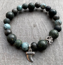 Heren kralenarmband Moss Agate and more