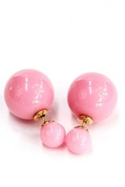 Double Dots pearl oorbellen candy pink