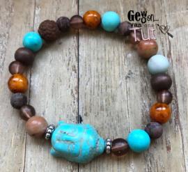 Armband buddha all nature beads
