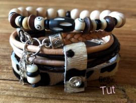 Armbandenset LS fur leather bones favorite!!