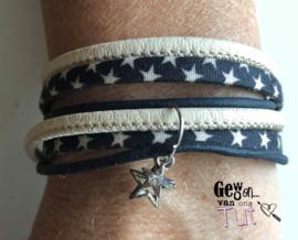 Armband wrap blue stars