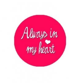 """Tekst slider voor 15 mm armband """"Always in my heart"""""""