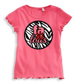 T-shirt Fabulous roze, mt 104-110-128, 3 stuks à € 12,00