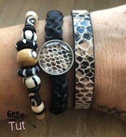 Armbandenset  Snake  Black and Bones