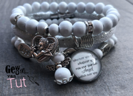 Armbandenset  Guardian Angel White