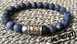 Heren armbandenset Navy tripple beads
