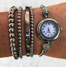 Armbandenset silver rvs