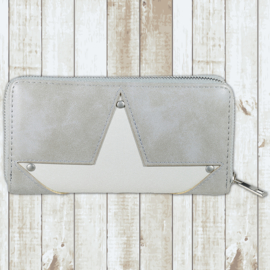 Portemonnee grijs star