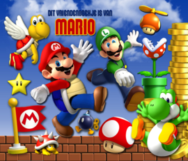 Vriendenboekje Super Mario Bros met jouw naam! en evt foto