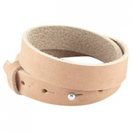 Armband 15 mm nubuck Sandstone brown dubbel