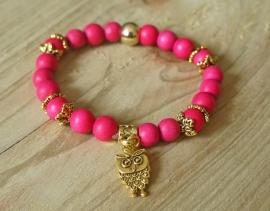 Ibiza Summer 2015 mix & match armband hot pink gold