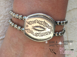 Armband Double Silver Metal