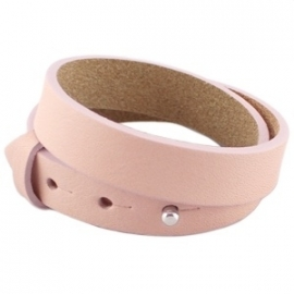 Armband 15 mm smoke rose dubbel