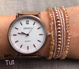 Horloge met armbanden Rose Gold
