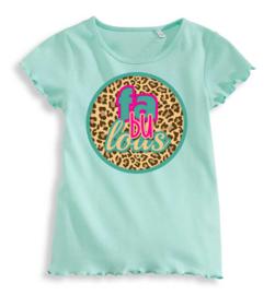 T-shirt Fabulous mint, mt 104 (2x) en mt 110 (2x, 4 stuks à € 12,00