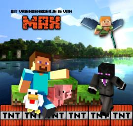 Vriendenboekje Minecraft met jouw naam!