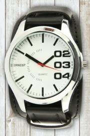 Herenhorloge Ernest zwart