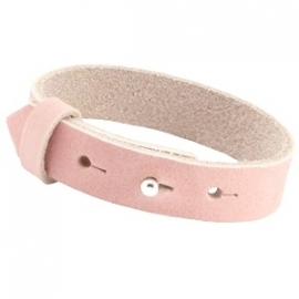 Armband 15 mm nubuck leer Light coral pink