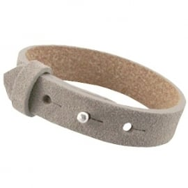 Armband 15 mm Tortora grey suede