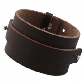 Armband 15 mm fudge brown extra breed