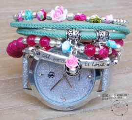 Armbandenset met horloge Summer Splash