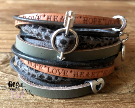 Armbandenset LS wrap mixed autumn Love Hope Heart