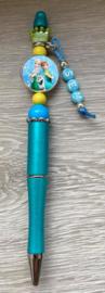 Pen Frozen Fever met naam (keuze uit 6 kleuren)