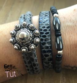 Armbandenset LS Snake black grijs