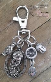 Sleutel / tashanger Masai Mask / Buddha