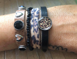 Armbandenset LS bruin zwart leopard