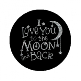 "Tekst slider voor 15 mm armband ""I love you....back"" speels"