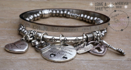 "Armbandensetje Just Silver ""Love Moon"" en mom"