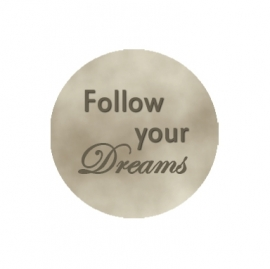 "Tekst slider voor 15 mm armband ""Follow your dreams"""