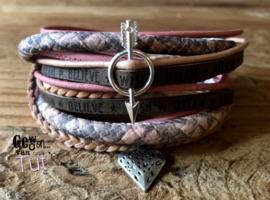 Armbandenset LS wrap mixed warm and pink