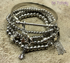 Armbandenset Just Silver (met of zonder horloge)
