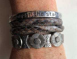 Armbandenset  LS  beige stars