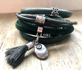 Armband LS wrap darkgreen