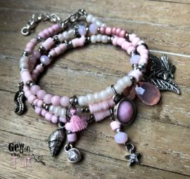 Armbanden Silver Pink Ibiza