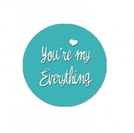 """Tekst slider voor 15 mm armband """"You're my everything"""""""