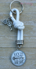 Sleutel / tashanger White Knoop