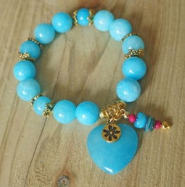 Ibiza Summer 2015 mix & match armband bubbles blue gold